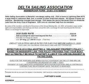 Image of DSA Membership Form