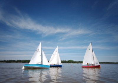 Lightning and Thistle Classes Race at Delta Sailing Association